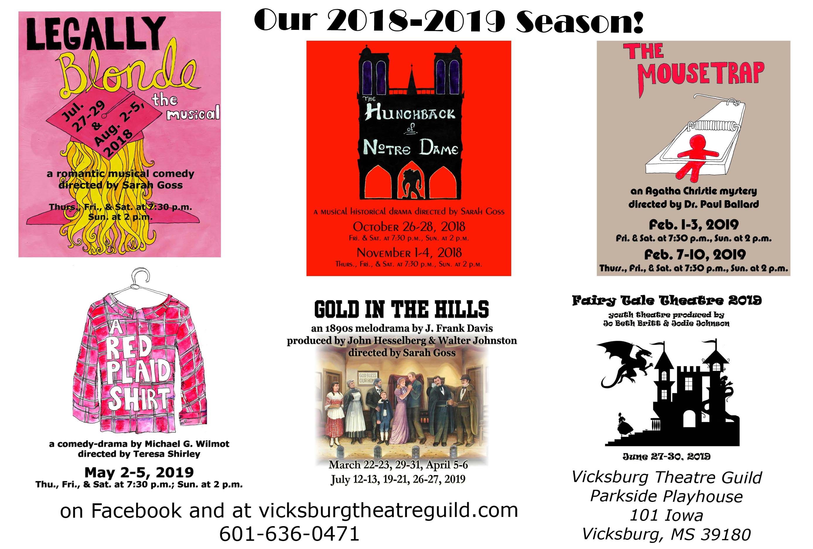 2018-2019 Season | Vicksburg Theatre Guild